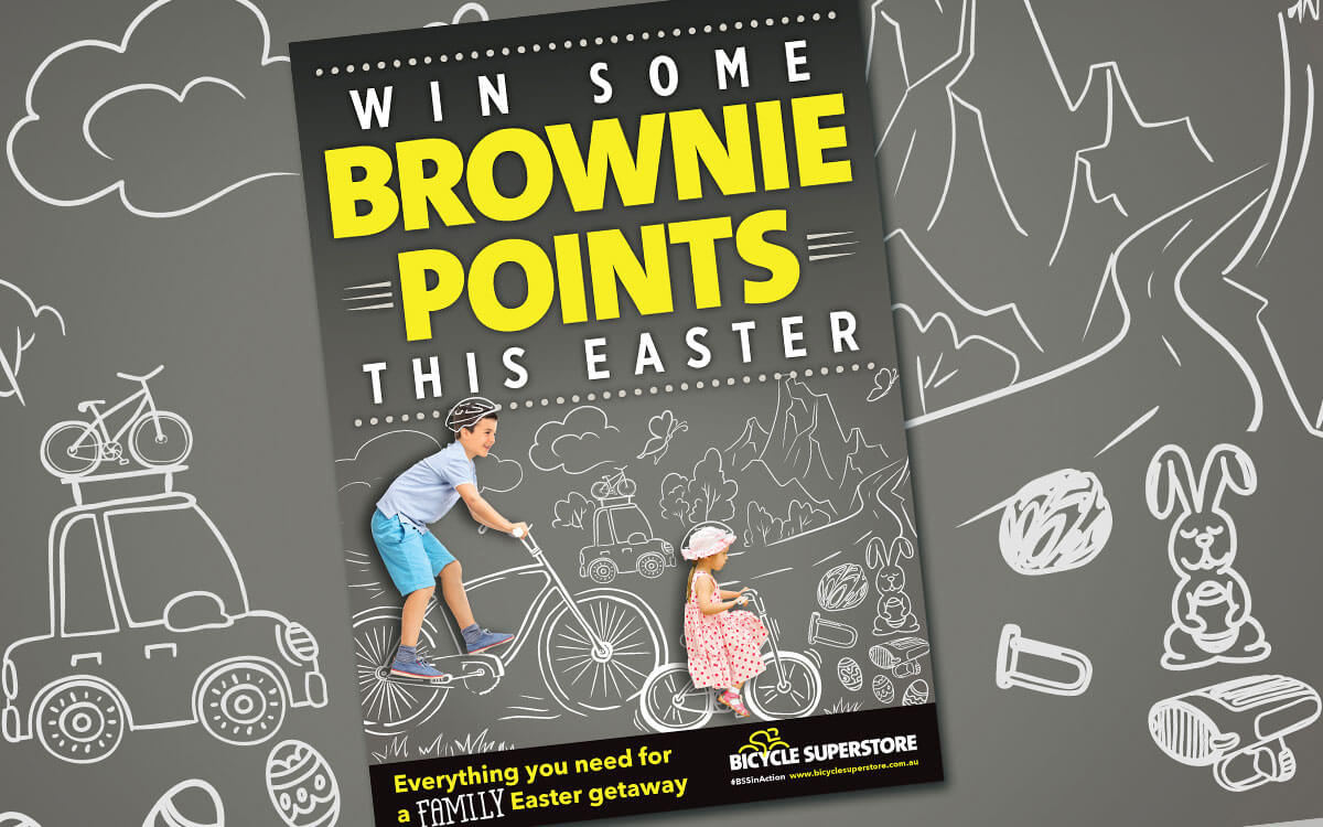 Easter campaign poster for Bicycle Super Store