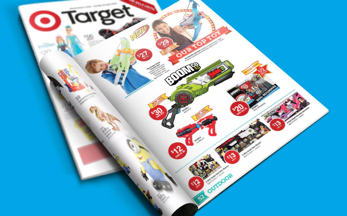 Target Catalogue. featuring BOOMco products