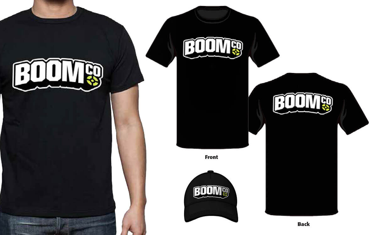 Tshirt designs featuring featuring BOOMco logo