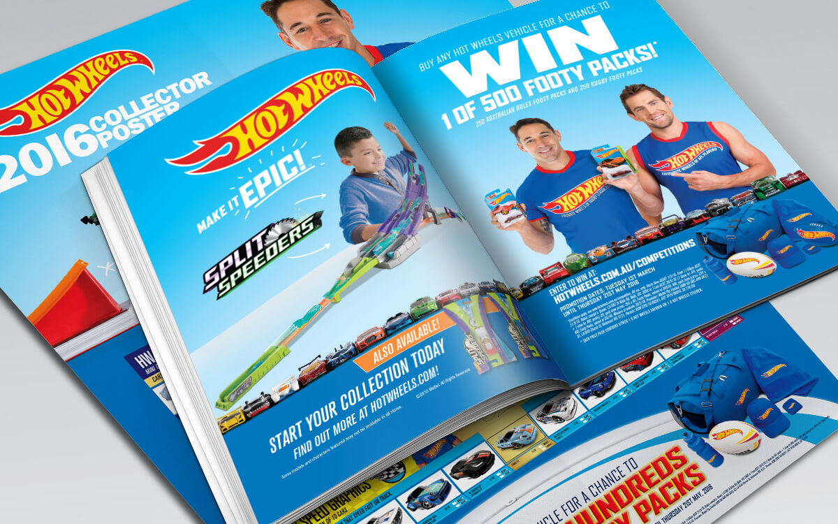 Collector poster and magazine insert for Hot Wheels Footy Promotion