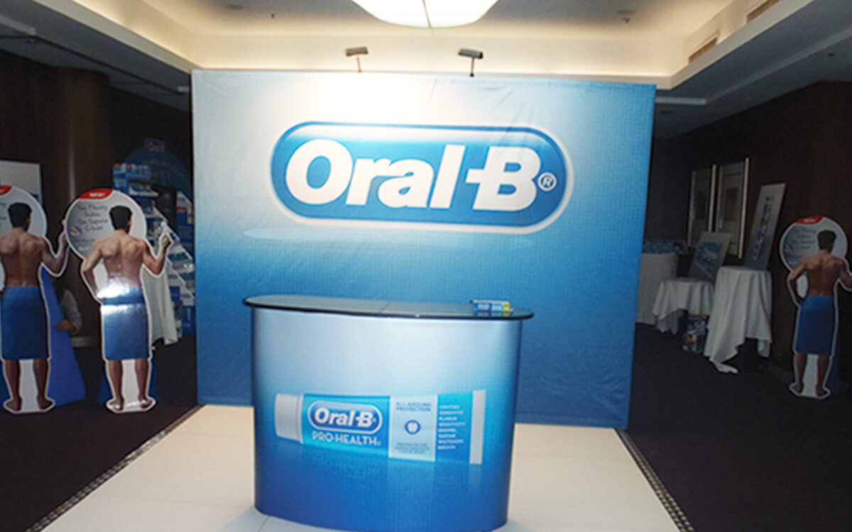 Oral-B podium at the roadshow