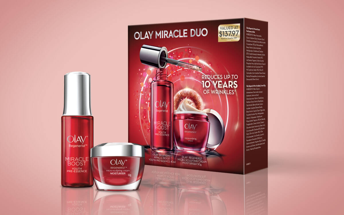 Out of box products with Olay Day & Night Duo