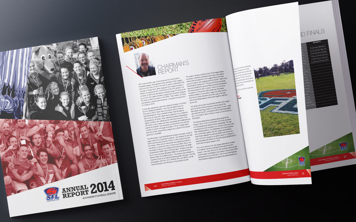 Annual report designs for SFNL