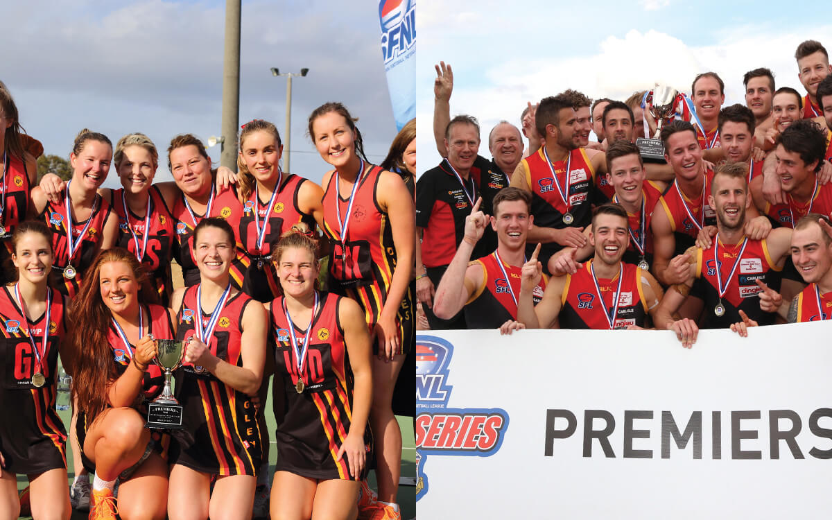Premiership winners for netball and football