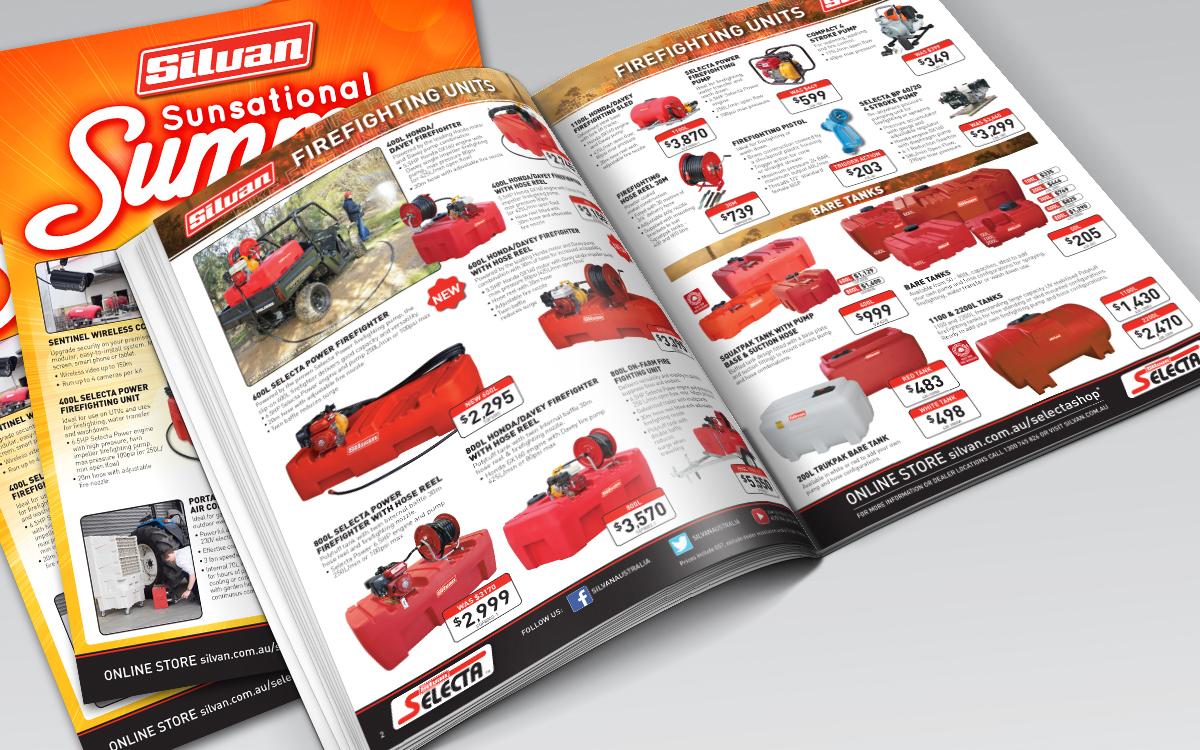 Silvan quarterly catalogue designs