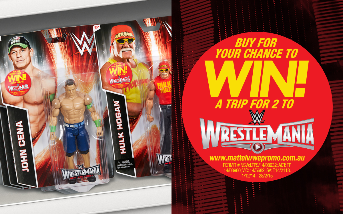 Hulk Hogan WWE figurine with on-pack sticker