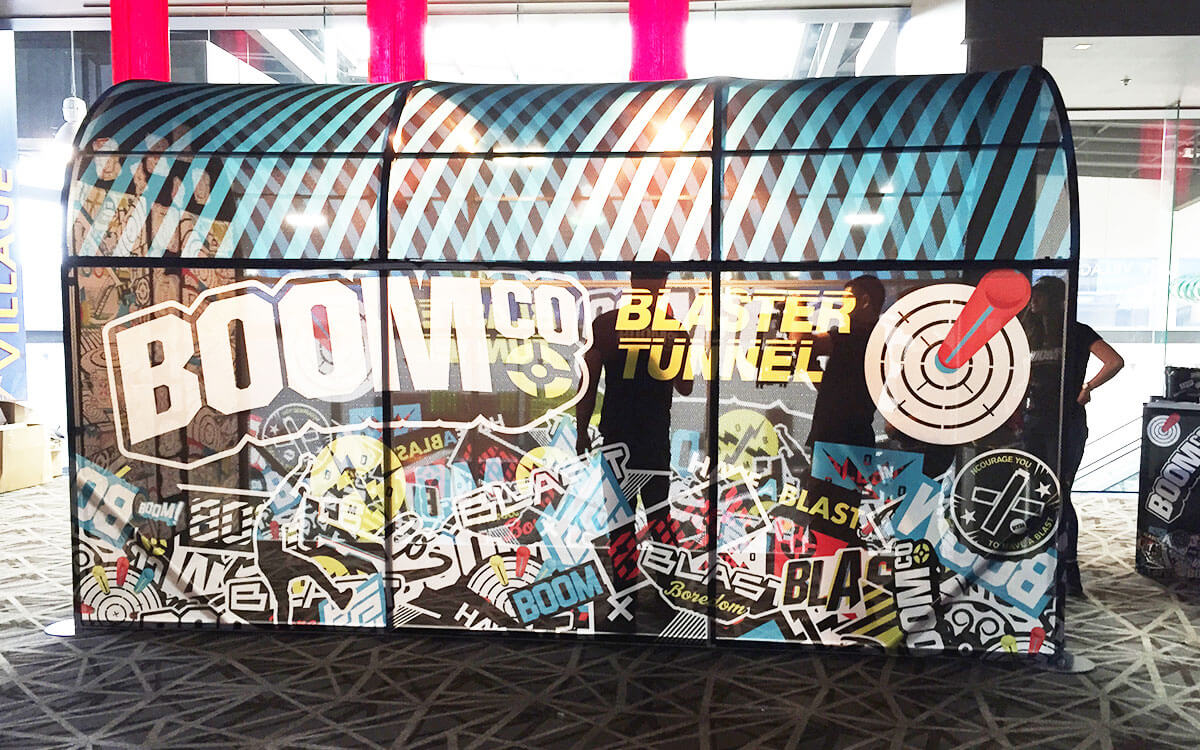 BOOMco Blaster Tunnel for outdoor campaign