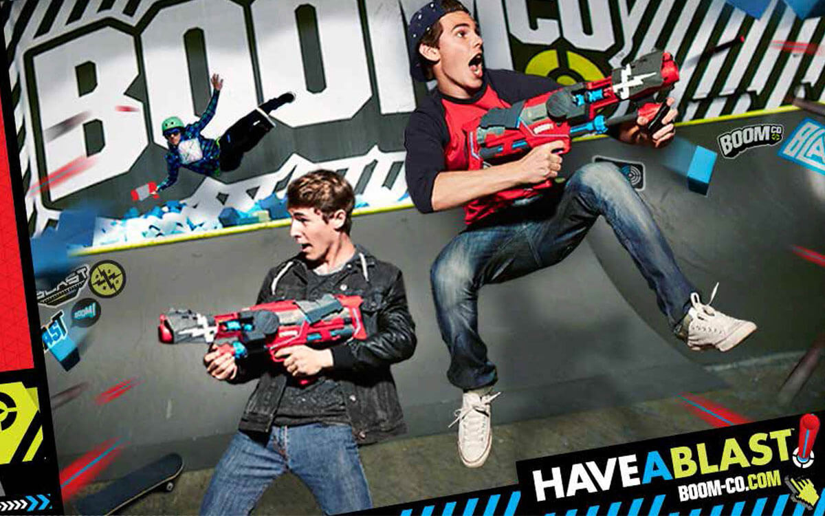 BOOMco visual guys with blasters