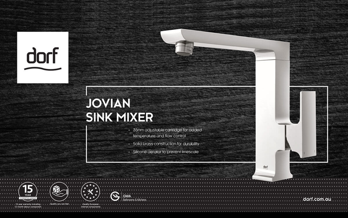 Jovian mixer for kitchen sinks by Dorf