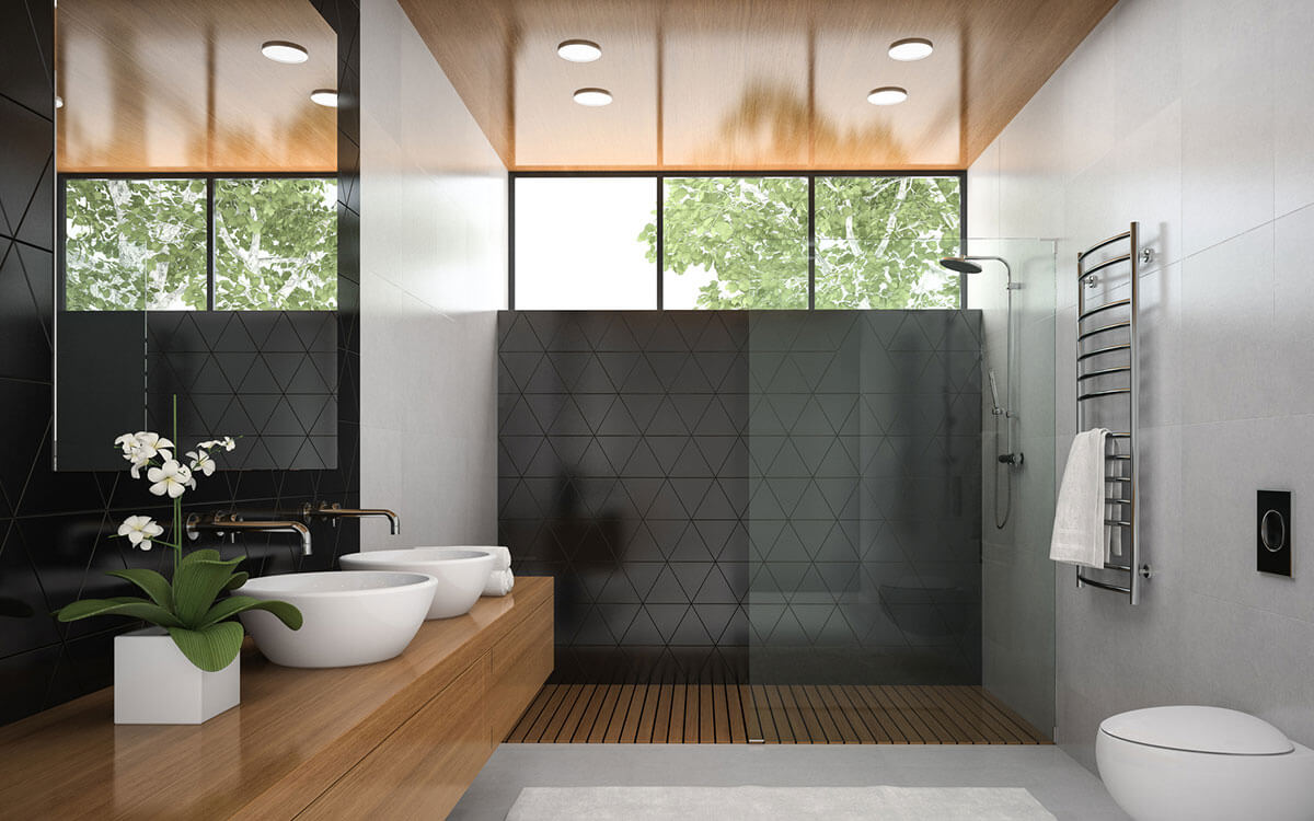 Beautiful contemporary modern bathroom design