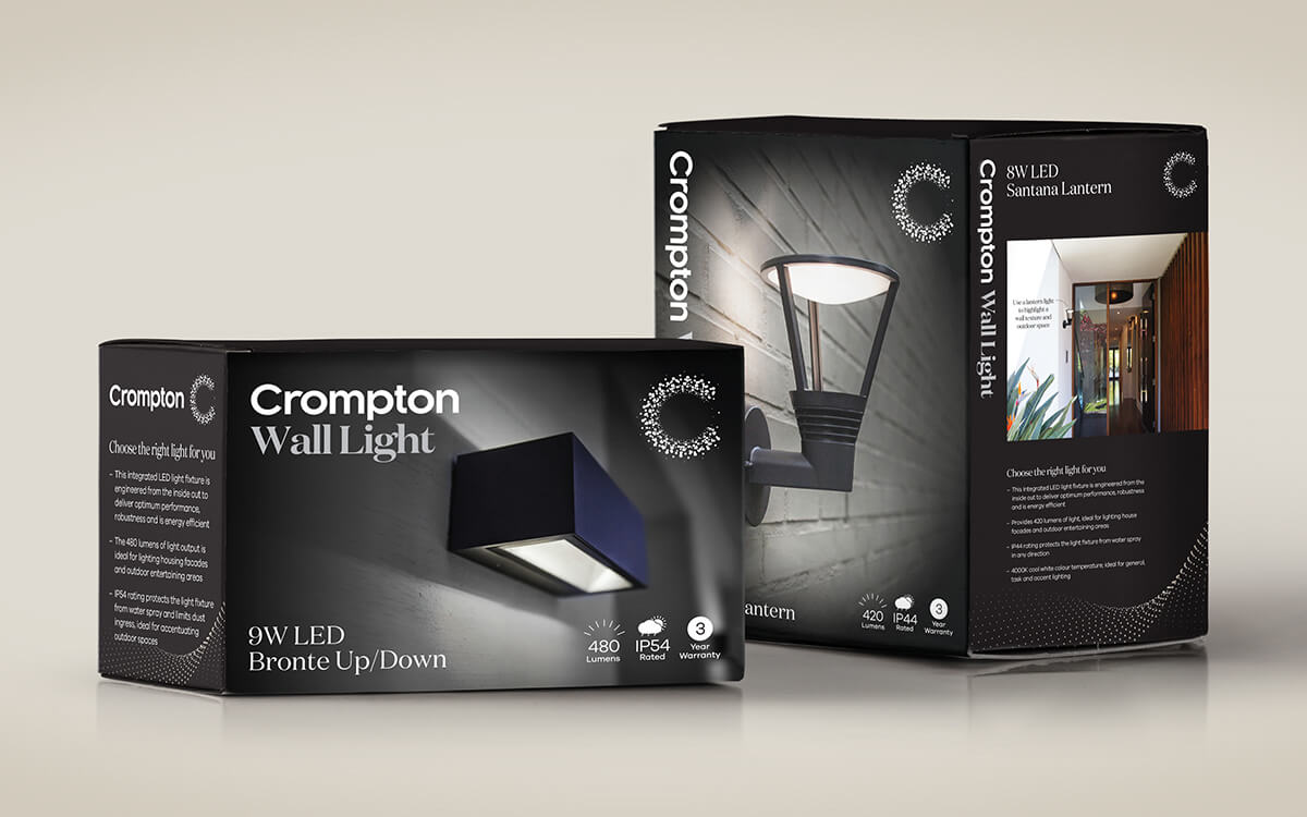 Package designs for exterior lighting products