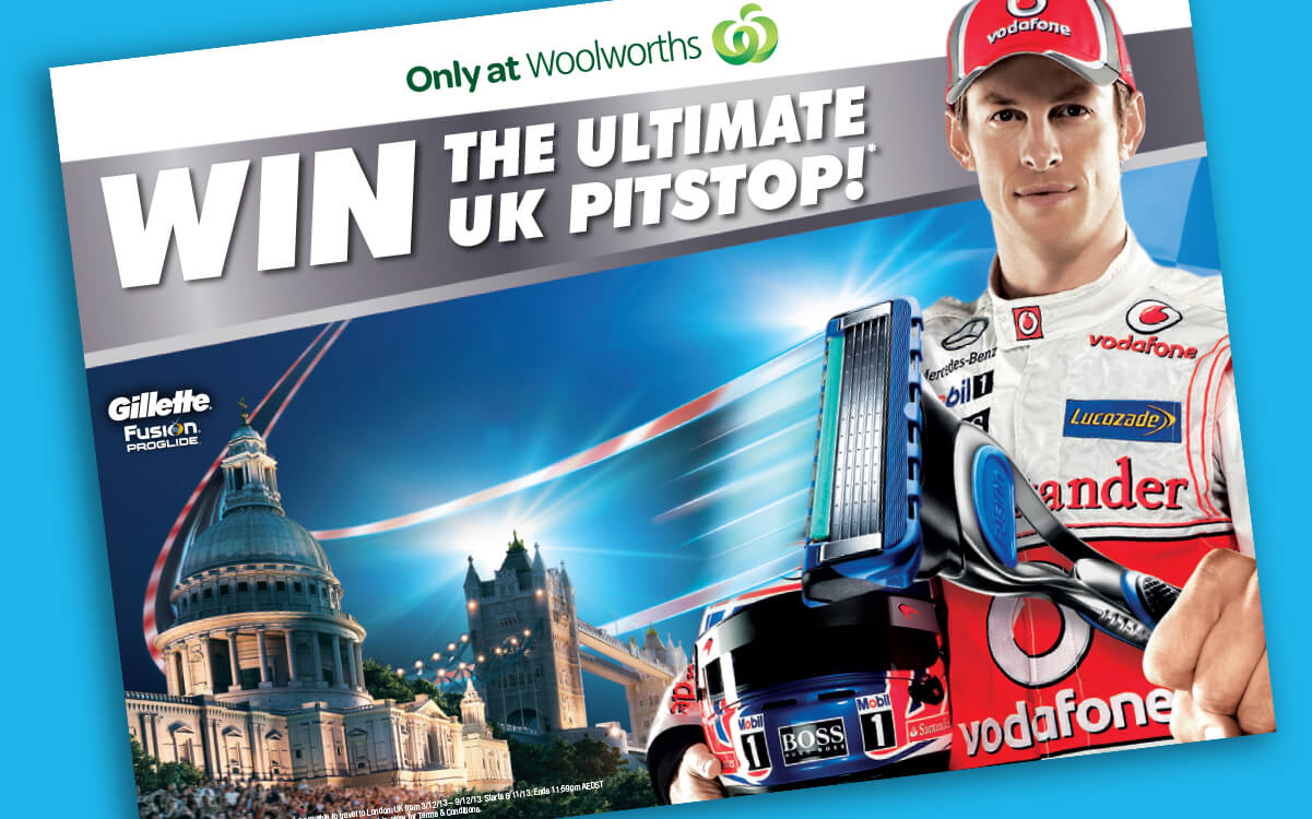 Gillette F1 promotion with Jensen Button