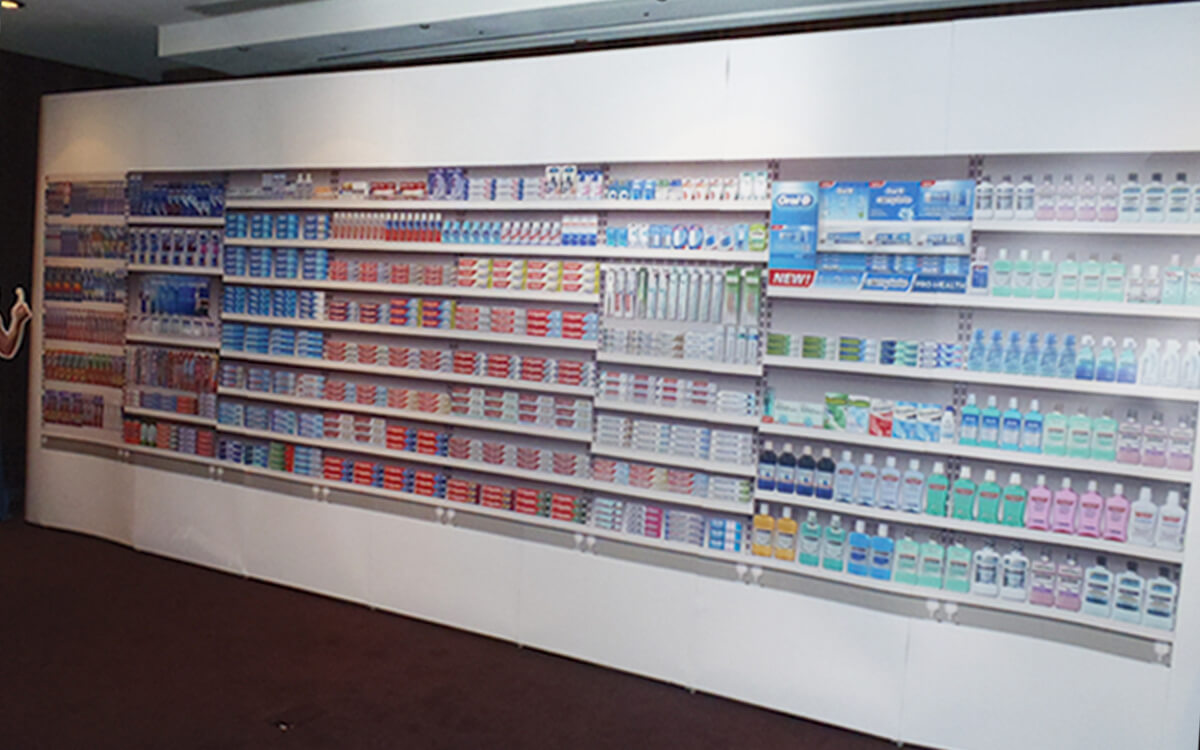 Toothpaste aisle featuring new Oral-B Pro-Health toothpaste