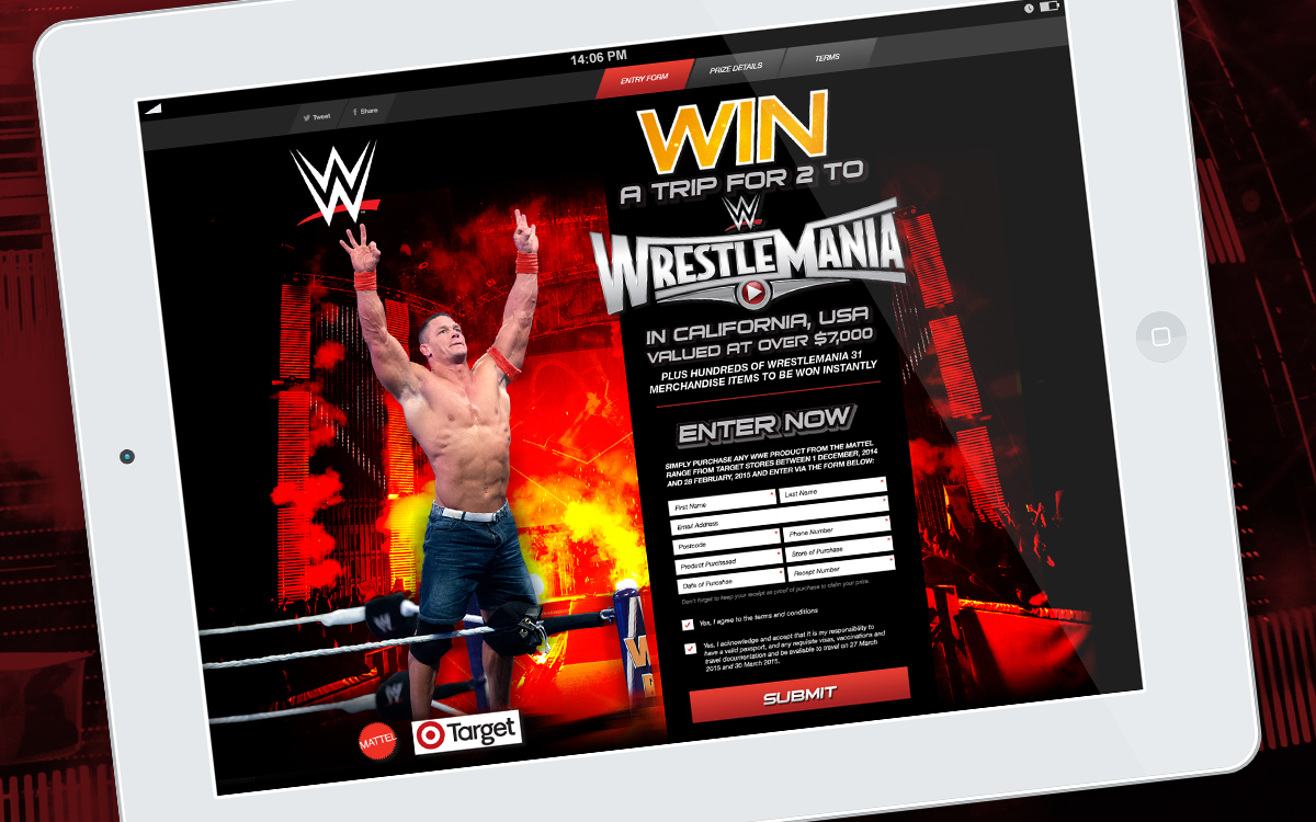 John Cena featured in WWE Promotion on iPad