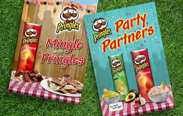 Poster deigns for Pringles that featured in Coles Supermarkets